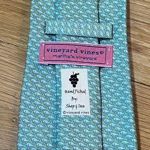 Vineyard Vines 100% Silk Necktie with Whale Print